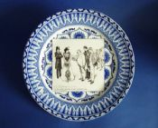 Royal Doulton Art Nouveau Gibson Girl 'A Widow and Her Friends' Series Rack Plate c1905 #3